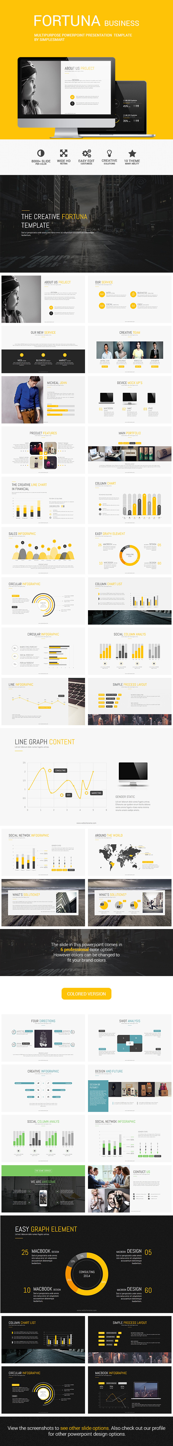 GraphicRiver FORTUNA Multipurpose Presentation Template 8851774