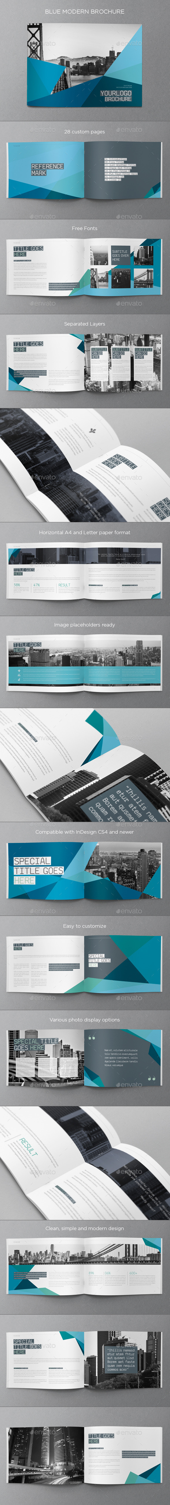 GraphicRiver Blue Modern Brochure 8852088