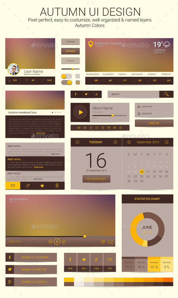 GraphicRiver Autumn Ui Design 8842037