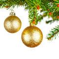 Decorative balls on fir branch - PhotoDune Item for Sale