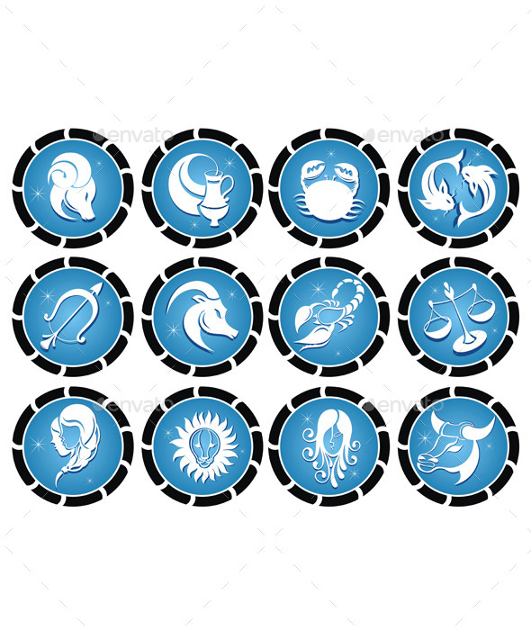 GraphicRiver Set of Zodiac Symbols 8852375