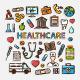 Health Care Doodle Sticker Set  - GraphicRiver Item for Sale