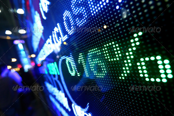 stock market pricing abstract - Stock Photo - Images