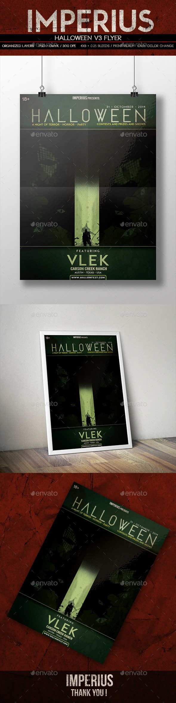GraphicRiver Halloween V3 Flyer 8852828