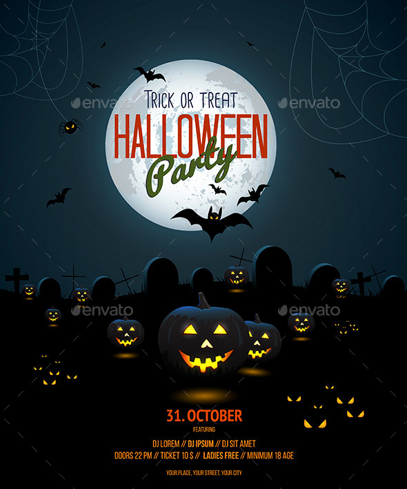 GraphicRiver Halloween Night Poster 8852833