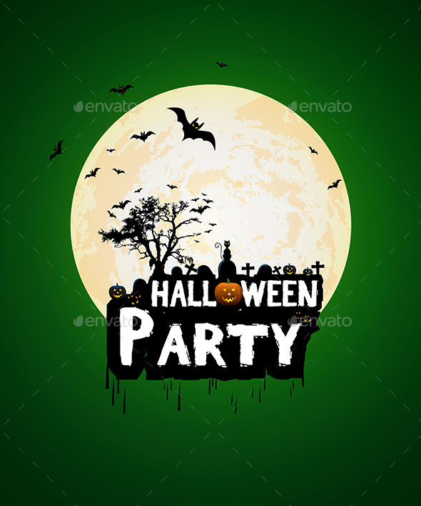 GraphicRiver Halloween Night Poster Template 8852954