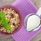 Healty breakfast with muesli and milk - PhotoDune Item for Sale