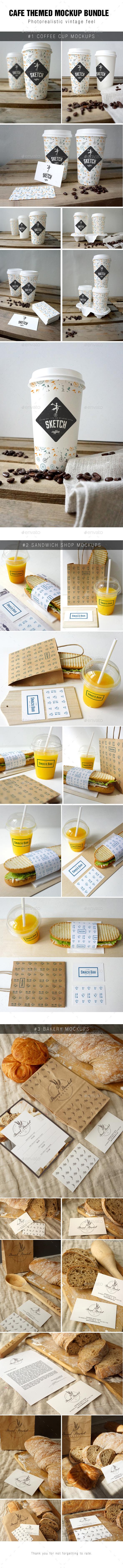 GraphicRiver Cafe Branding Mockup Bundle 8853356