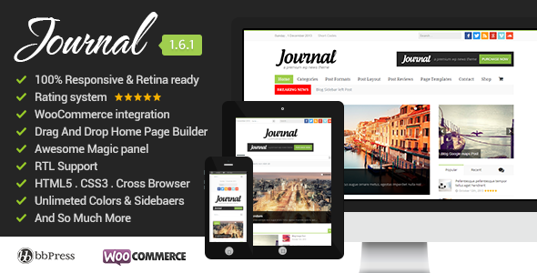 Journal Clean, Responsive WP Magazine - News / Editorial Blog / Magazine