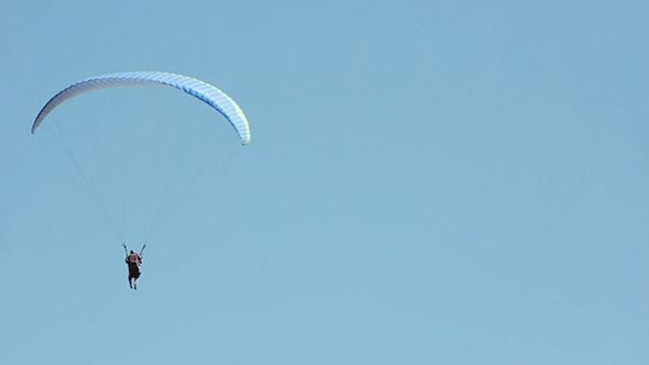 VideoHive Paraglider and Blue Sky 8853377
