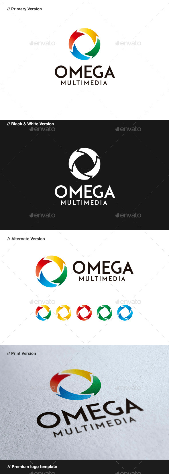 GraphicRiver Omega Abstract Logo 8853437