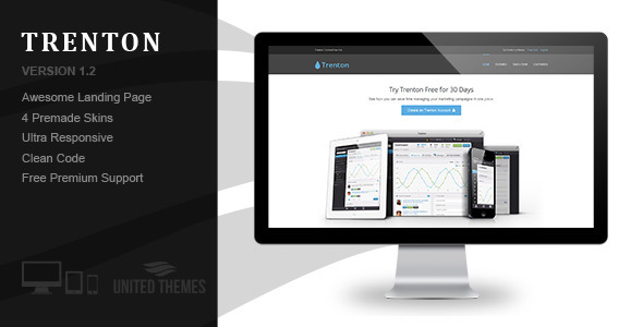 Trenton - App Starter Landing Page - Corporate Landing Pages