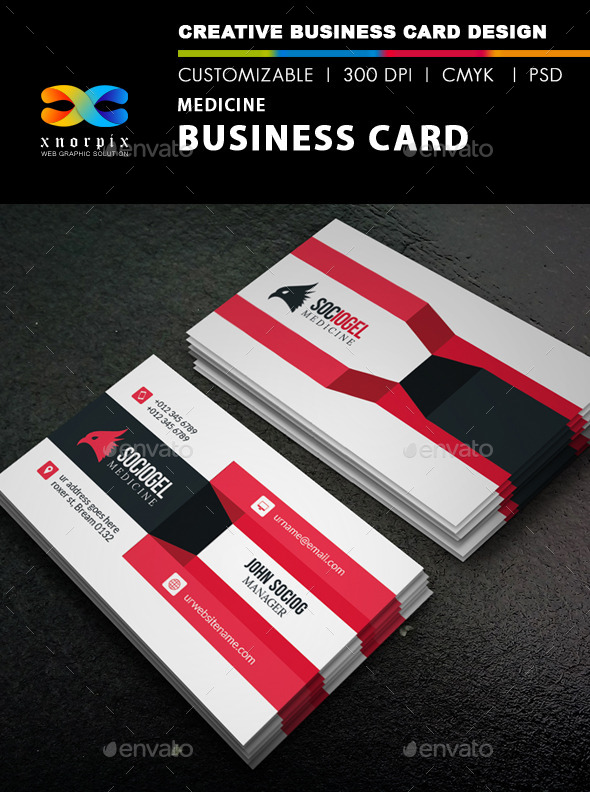 GraphicRiver Medicine Business Card 8853471