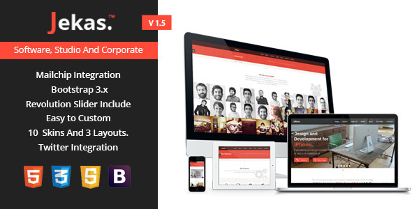 Jekas - Software & Business Bootstrap Template - Software Technology