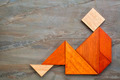 tangram sitting figure - PhotoDune Item for Sale