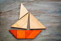 abstract sailboat from tangram puzzle - PhotoDune Item for Sale
