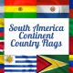 South America Continent Country Flags - VideoHive Item for Sale