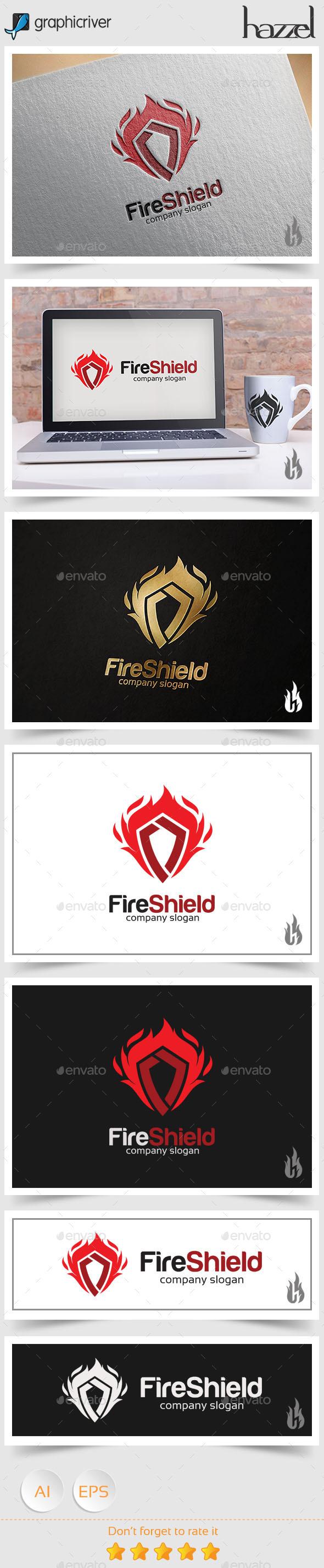 GraphicRiver Fire Shield Logo 8853673