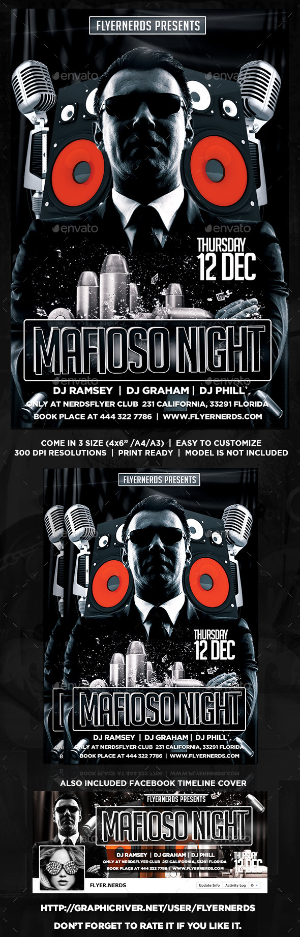 GraphicRiver Mafioso Night Flyer 8853794