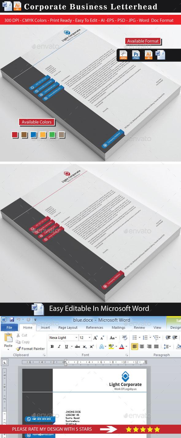GraphicRiver Modern Corporate Clean Letterhead 8845827