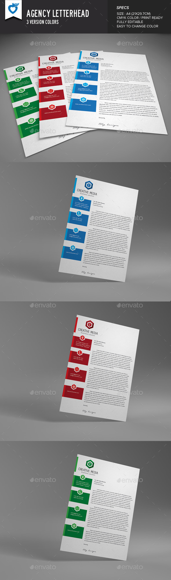 GraphicRiver Agency Letterhead 8853945