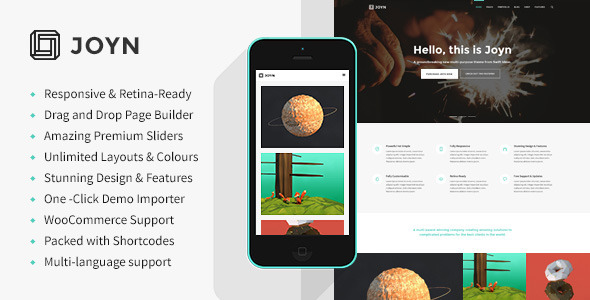 ThemeForest JOYN Creative Multi-Purpose Theme 8854021