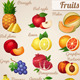 Set of Food Icons. Fruits.   - GraphicRiver Item for Sale