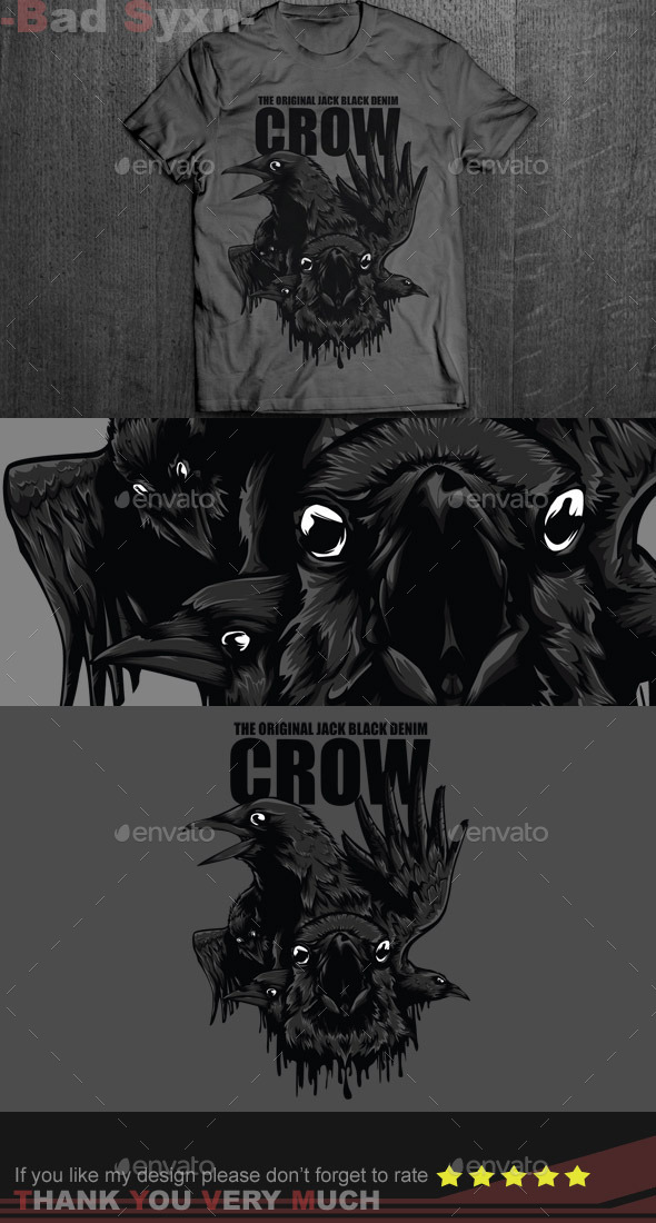 GraphicRiver Black Crow T-Shirt Design 8664681