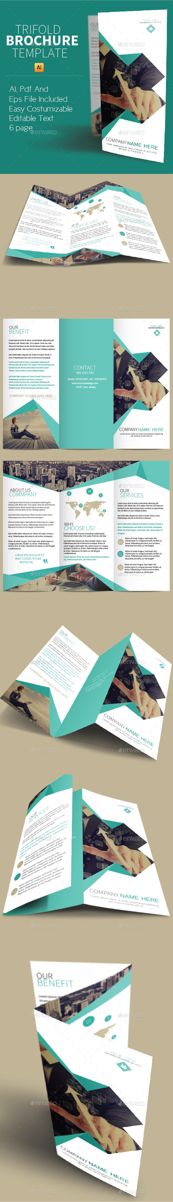 GraphicRiver Trifold Brochure Template 8854380