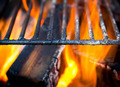 Grill, Bright Flames and Burning Coals. - PhotoDune Item for Sale