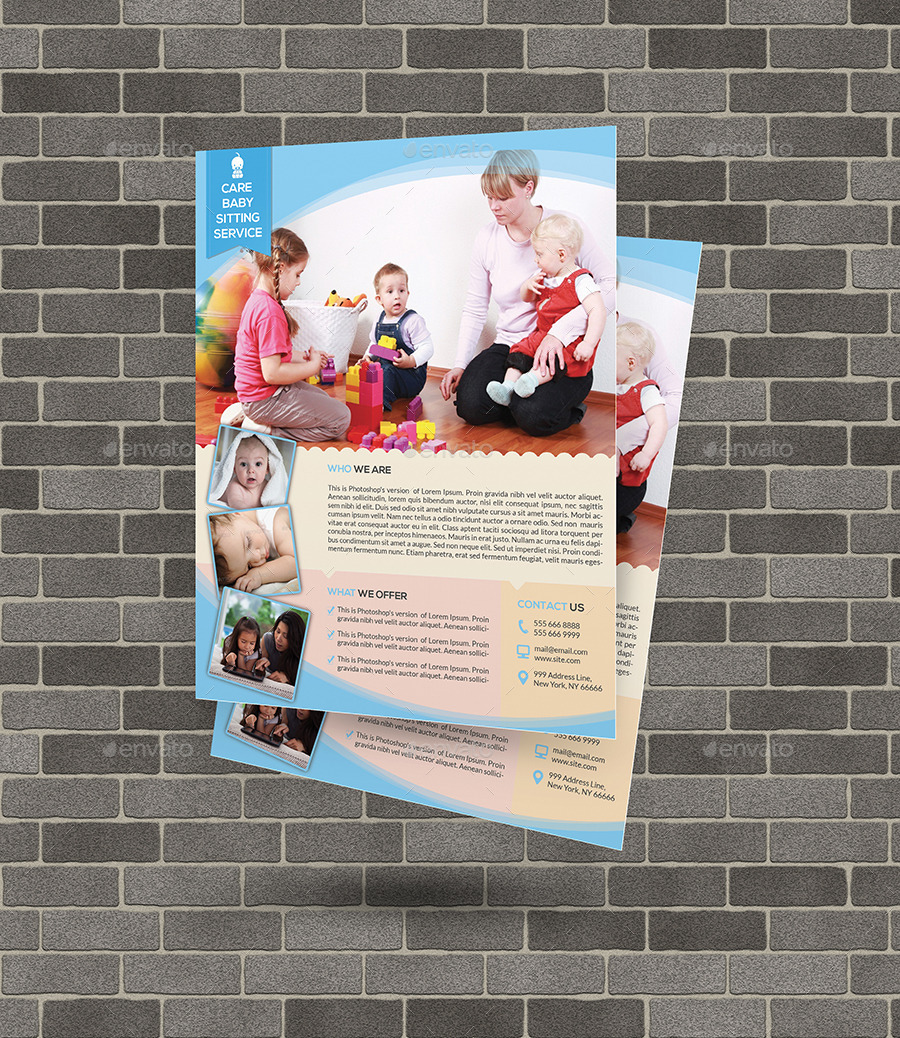 babysitting daycare flyer template by elitely graphicriver babysitting daycare flyer template commerce flyers · 00 jpg