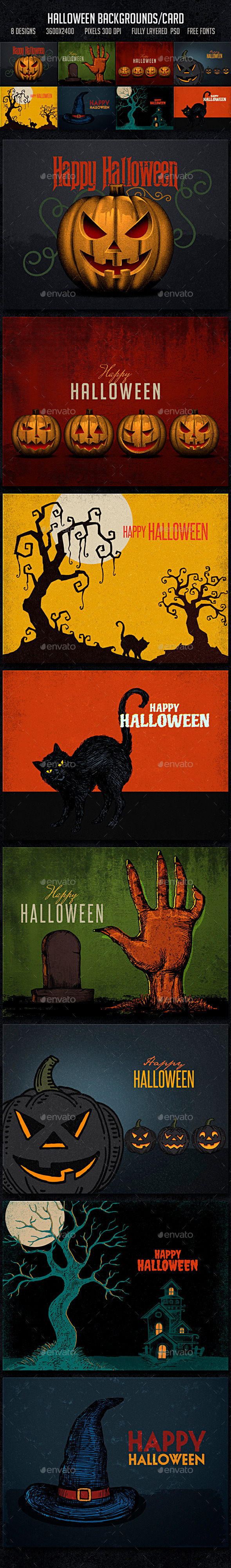 Halloween Backgrounds Card