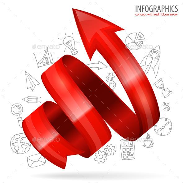 GraphicRiver Spiral Arrow 8855124