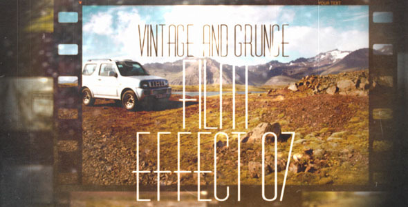 Vintage and Grunge Film Effect 07