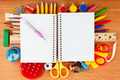 Office and student accessories. Back to school concept. - PhotoDune Item for Sale