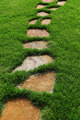 Stone path on the green grass. - PhotoDune Item for Sale