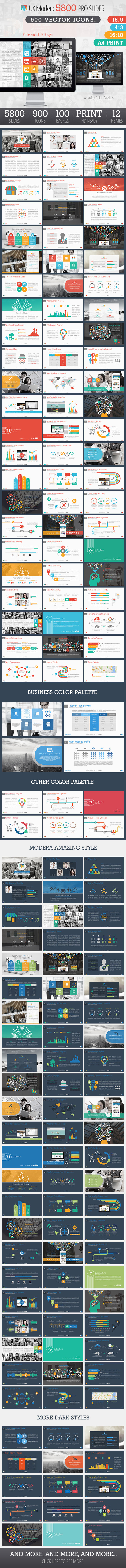 GraphicRiver UX Modera Presentation Template 8837339