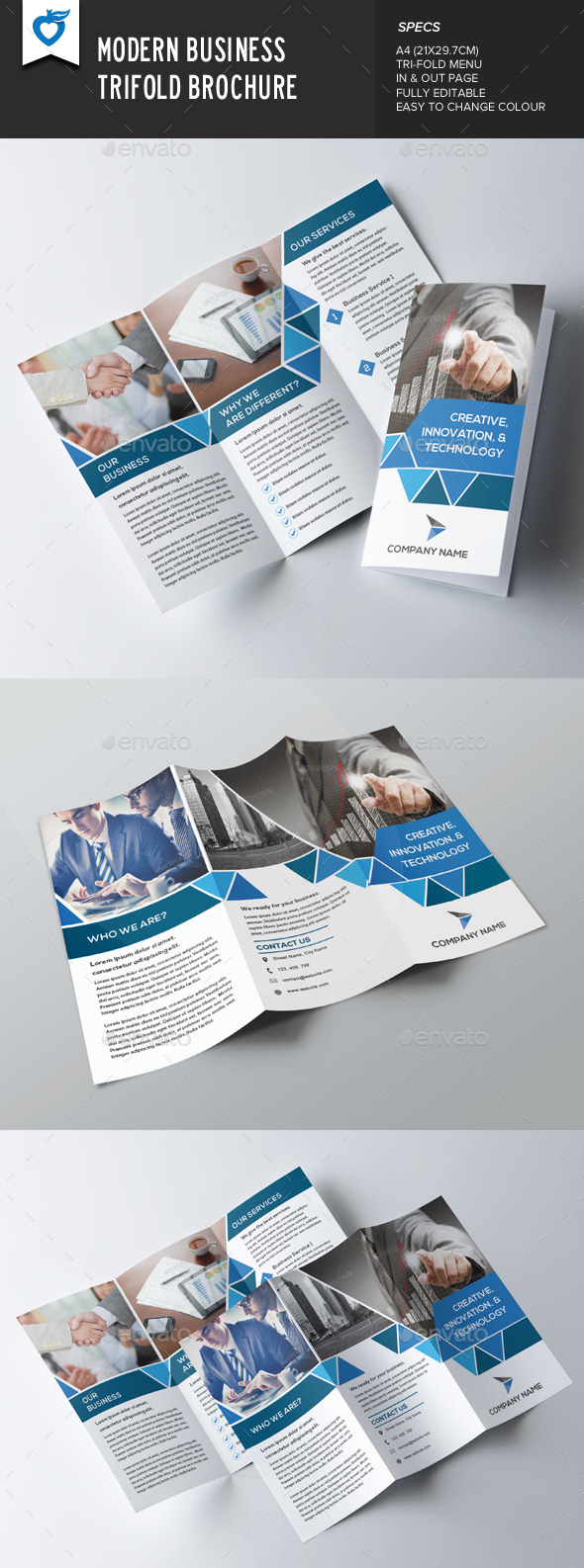 Modern Business Trifold
