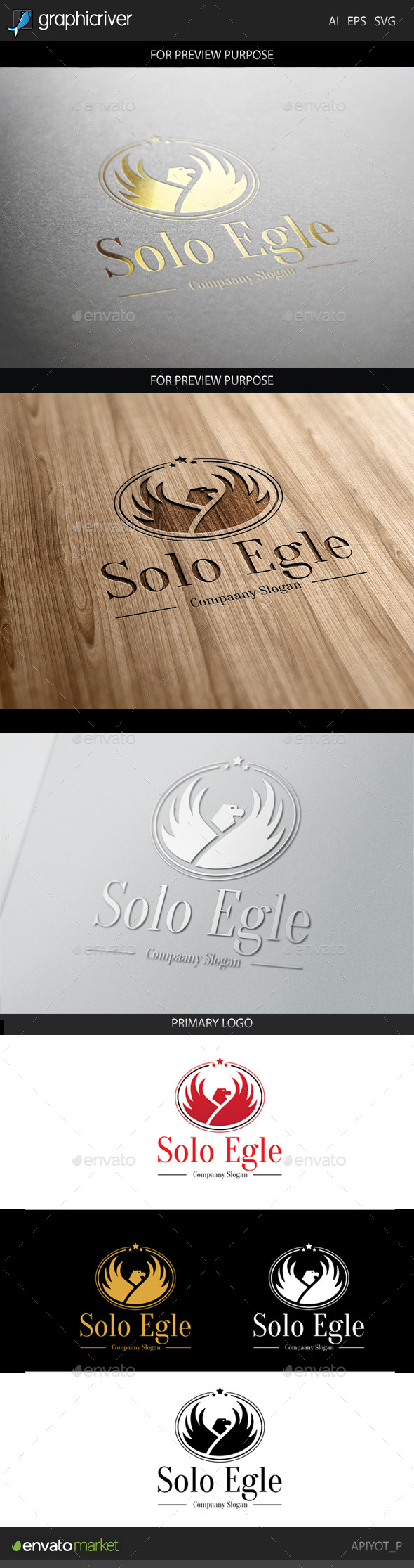 GraphicRiver Solo Eagle Logo 8856813