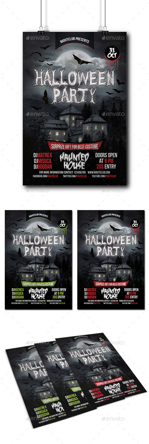 GraphicRiver Halloween Party Flyer 8857463
