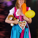 Woman in dirndl won some prizes at Oktoberfest - PhotoDune Item for Sale