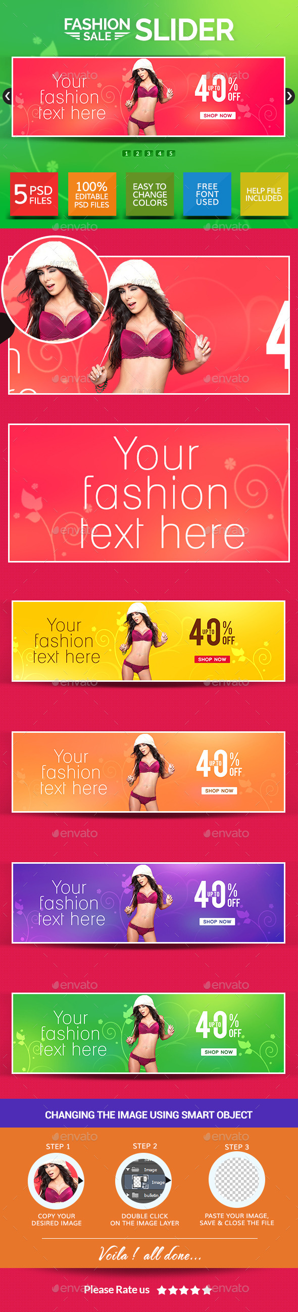 GraphicRiver Fashion Sale Sliders 8857552