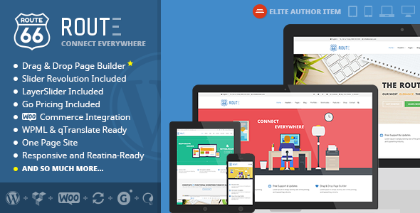 Route – Responsive Multi-Purpose Theme (WordPress 4.0 Ready) Route is an minimal, ultra premium highly responsive, retina-ready wordpress theme fully bas