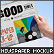 Newspaper Mock-up Vol.2 - GraphicRiver Item for Sale