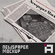 Newspaper Mock-Up - Vol.1 - GraphicRiver Item for Sale