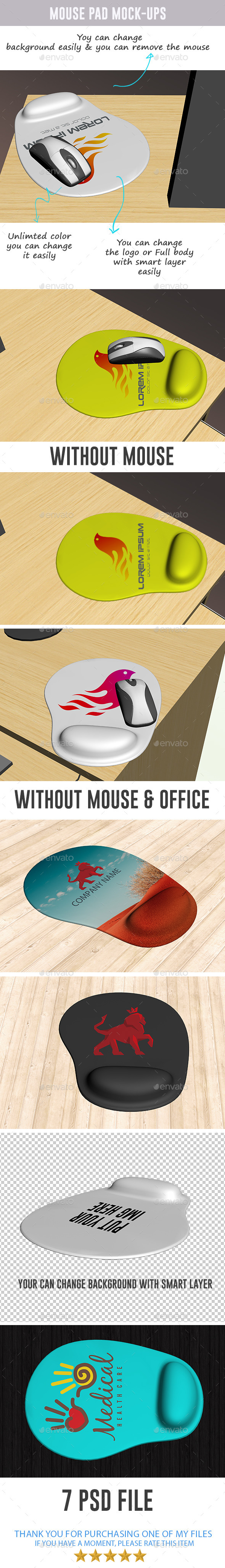 GraphicRiver Mouse Pad Mock-ups 8858032