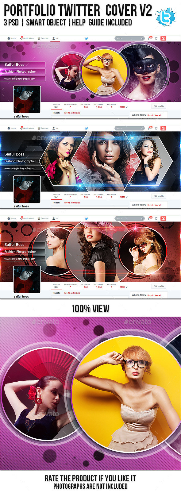 GraphicRiver Portfolio Twitter Profile Cover V2 8858177
