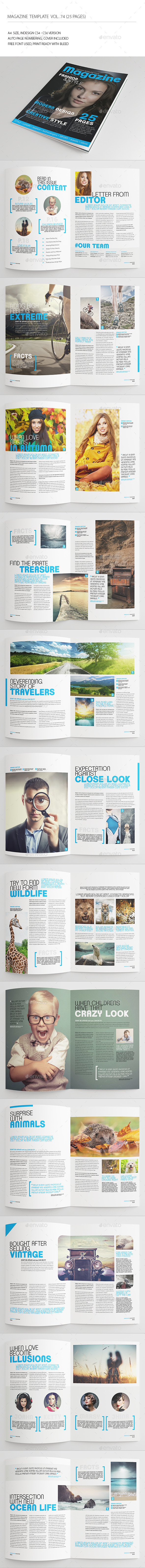GraphicRiver 25 Pages Universal Magazine Vol74 8858183