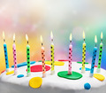 burning candles on a birthday cake - PhotoDune Item for Sale
