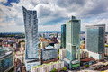 Warsaw, Poland. Downtown business skyscrapers, city center - PhotoDune Item for Sale